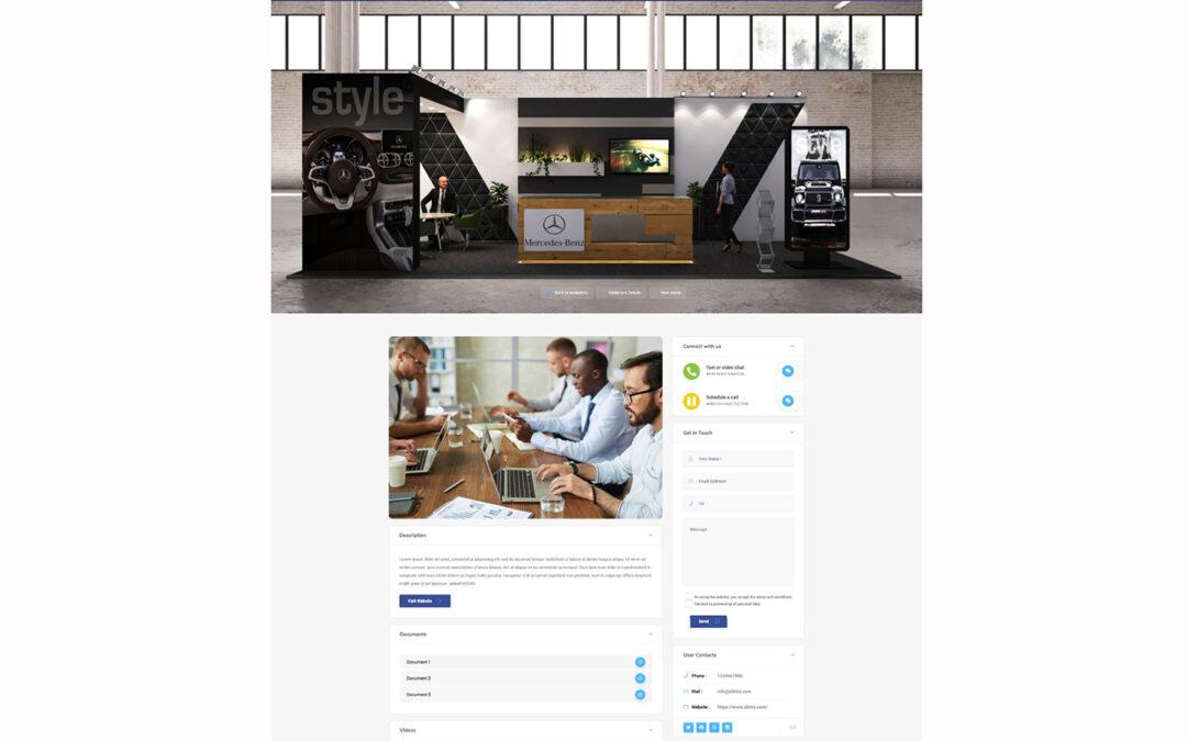 GCB Virtual Venue –  2D Messepräsenz
